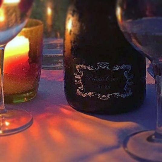 Magica atmosfera..#magicathmosphere #magiclight #wine #dinner #winebottle #winelabel #francesconcollodi #candle #candlelight #night #francescon #collodi #instagram