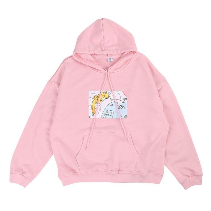The oversized sleepy head hoodie is definitely a fan favorite. Featuring none other than Usagi Tsukino from Sailor Moon, wrapped up in a blanket. The hoodie is only available in an oversized size. Ava