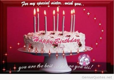 7 best Sweet Sister Birthday Quotes images – Birthday Greetings to a Sister Quotes