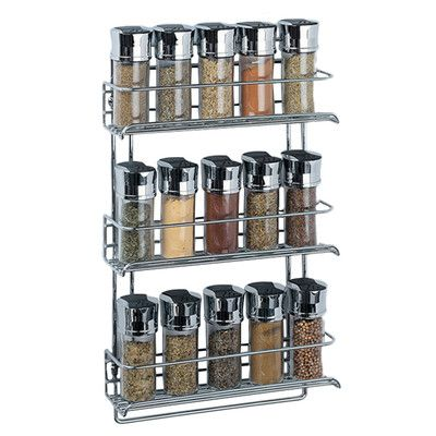 OIA Stainless Steel Wall Mount Spice Rack & Reviews | Wayfair