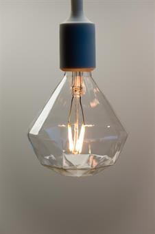 Lysglede 3W Diamantformet 2200K E27 LED-pære