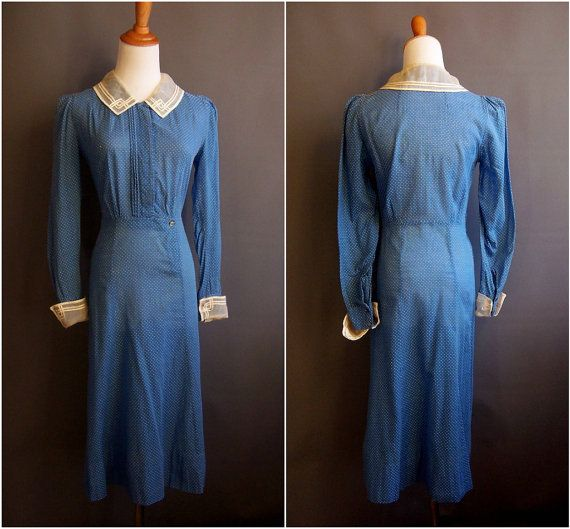 1930s dress 30s day dress great depression dust bowl 1930s day