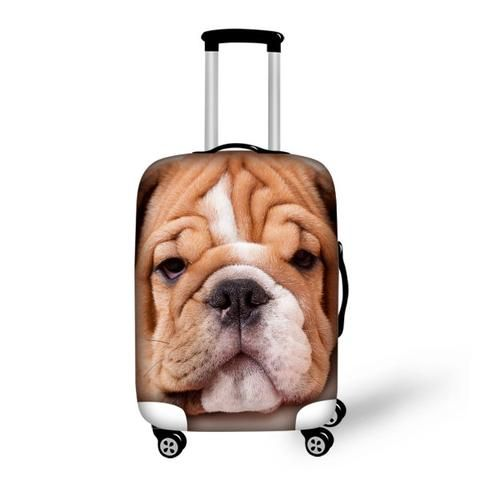 New Waterproof Travel Suitcase Protective Dust Cover,Elastic Luggage Cover 3D Animal Print Cover Apply to 18-30 Inch Cases