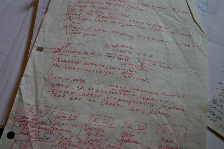 Notes and drafts of The Garden of Dead Dreams