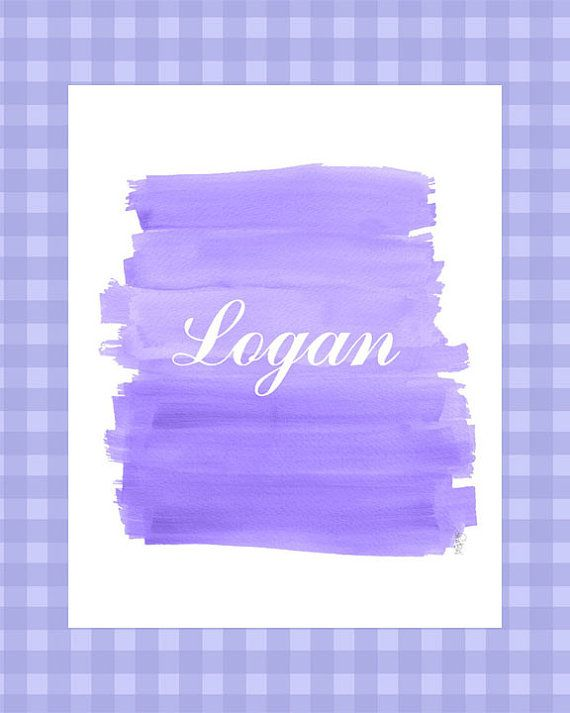Purple Nursery Art Lavender Nursery 8x10 by OutsideInArtStudio