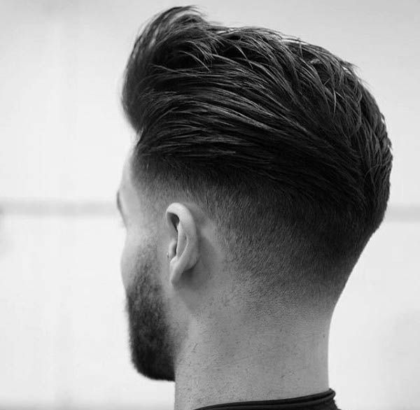 Pompadour Mens Low Fade Hair Style