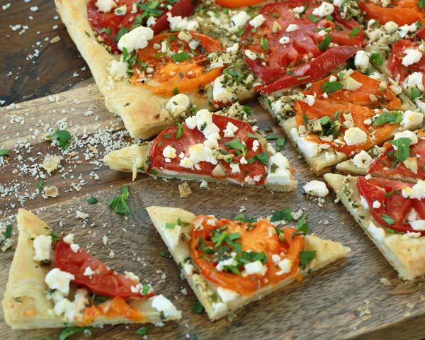 Tomato and Goat Cheese Flatbread Recipe! #OldLondon #Recipes www ...