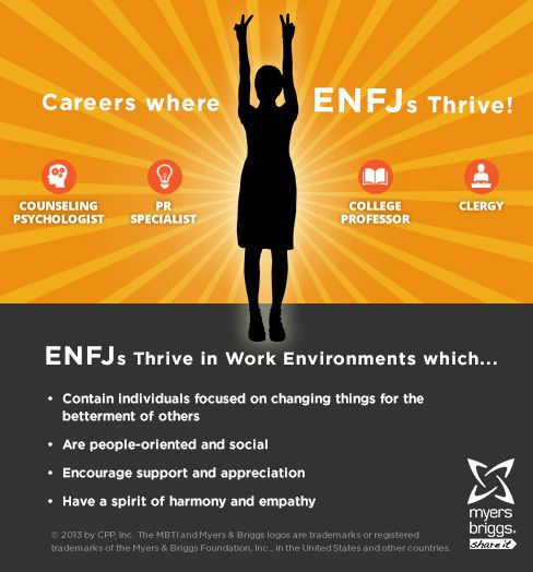 The careers and workplaces where ENFJs thrive!