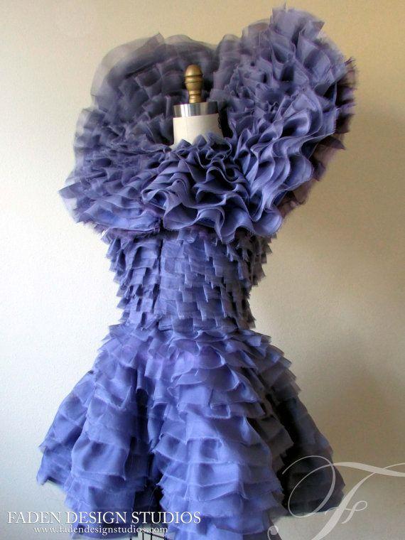Effie Trinket inspired ruffled purple dress by FadenDesignStudios