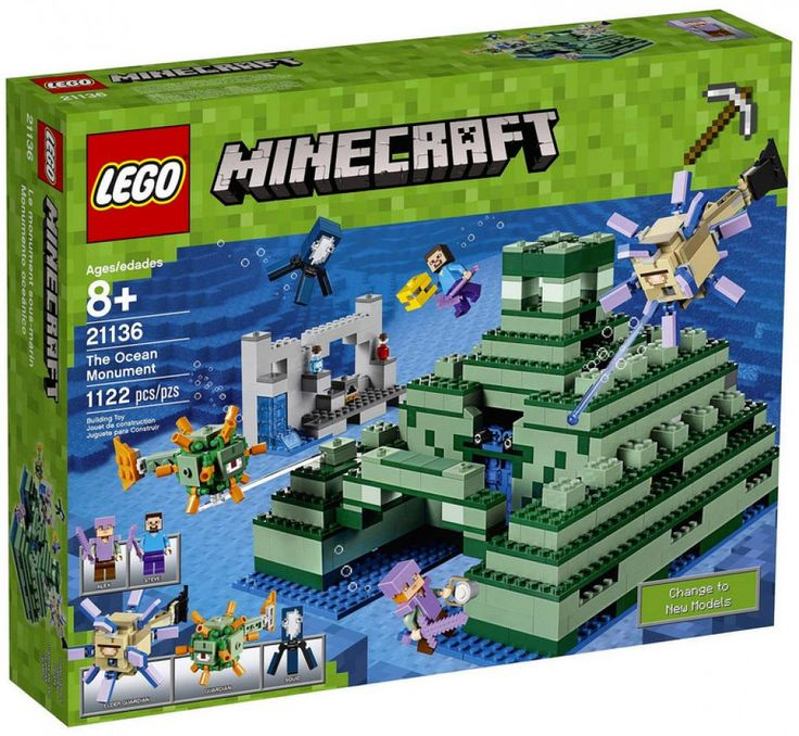 LEGO Minecraft 21136 : The Ocean Monument - Août 2017