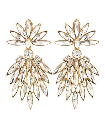 Art Deco Crystal Chandelier Earrings by R.J. Graziano at Neiman Marcus Last Call.