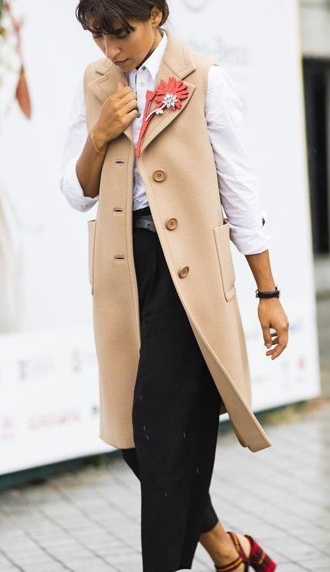 Uliana Boiko in Prada vest, The Row pants