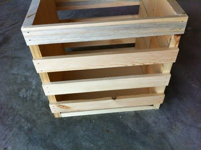 Build your own toy box plans woodworking projects plans for Wooden chicken crate plans