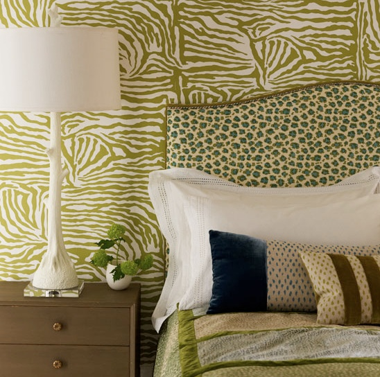 I Really Like The Green Zebra Stripe Wallpaper!