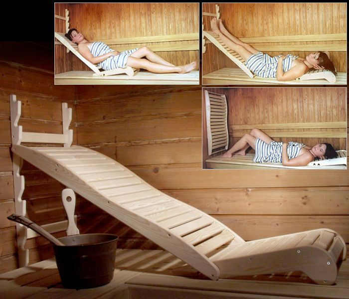 This is so simple and yet would be so comfortable when relaxing in the sauna! #Spa #Sauna