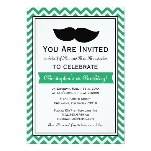 712 best Mustache Little Man birthday theme images on Pinterest - best of invitation birthday party text