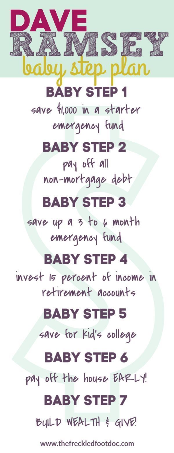Dave Ramsey Baby Steps for Six Figure Debt