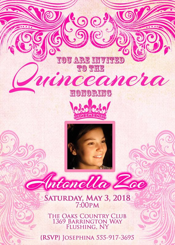 ON SALE Quinceanera Invitation  15th Birthday by ScriptureWallArt, $10.80