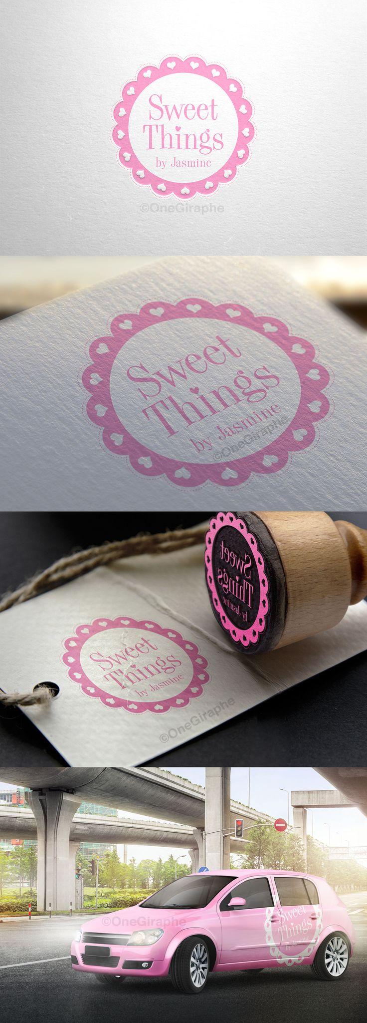 Brand for Sweet Things by Jasmine #portfolio #cake #cupcake #pink  #stamp #car branded #sweets #pink #logo #logodesign #brand #branding #brandidentity #graphic #graphicdesign #graphicdesigner #designer #foodgram #instegram #cakegram #owners #needlogo #logodesigner