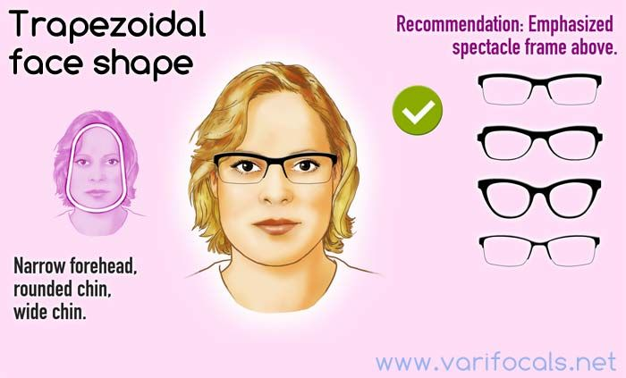 f3ad860079f Trapezoidal face shape with glasses