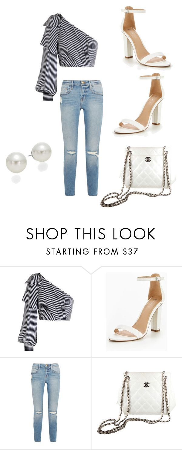 """""""Sweet white"""" by elisavjesus on Polyvore featuring Zimmermann, Frame, Chanel and AK Anne Klein"""