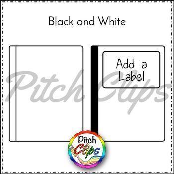 Composition notebook clipart is here for you! You will not want to miss this fun freebie - black and white composition notebooks! Use the included labels to build your notebook or add your own label! FREE #tptclipart #tptsellers #pitchclips