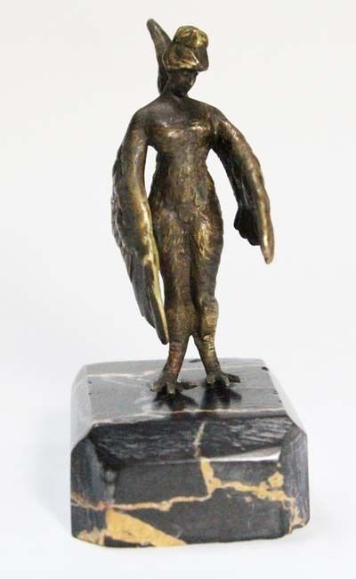 Rare old lady Woman Chicken Suit rooster Chantecler bronze figure portoro base   eBay