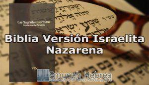 Biblia Versión Israelita Nazarena