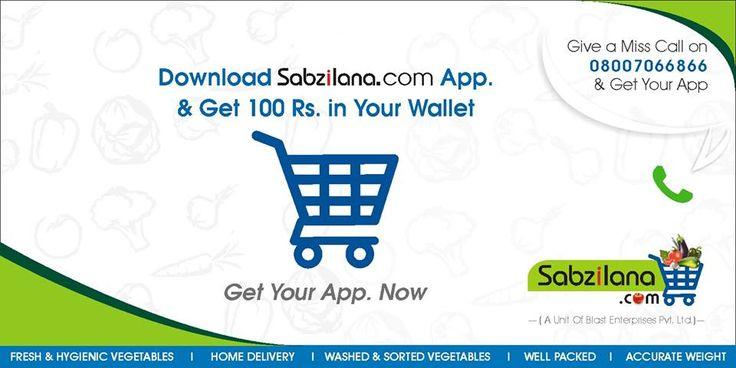 3Get your App now !!  goo.gl/LVGhmK Say hello to Sabzilana.com @ 7304040040 #sabzilana.com #mobile #shopping #nagpur