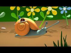 """Voici la comptine """"Petit Escargot"""" pour bébés et petits enfants. http://www.comptinestv.fr/ PAROLES: Petit escargot porte sur son dos Sa maisonnette Aussitôt..."""