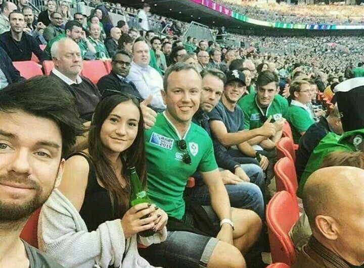 Niall at rugby match today❤