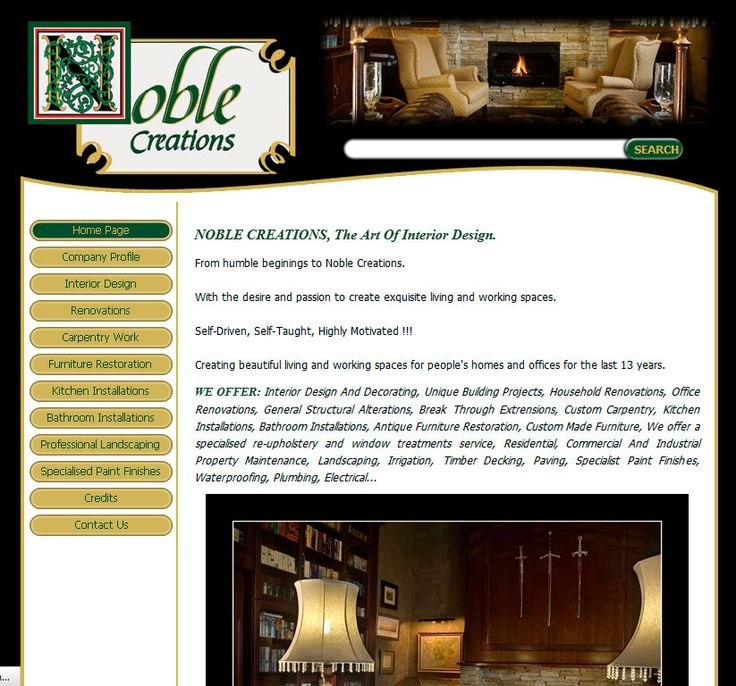 Website Design By DRAGAN GRAFIX - NOBLE CREATIONS - The Art Of Interior Design - Creating beautiful living and working spaces for people's homes and offices for the last 13 years. http://www.noblecreations.co.za