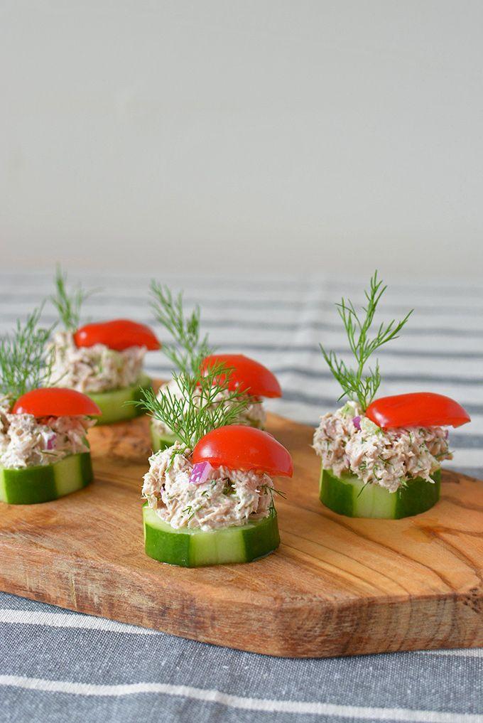 Cucumber Tuna Salad Bites