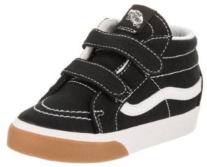 Vans VN-0A348JQR4 : Toddler SK8-Mid Shoes Gum Bumper Black/True White (9 M US Toddler)