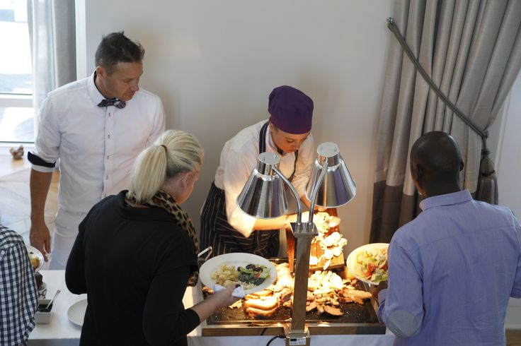 Serving our carvery to our guests