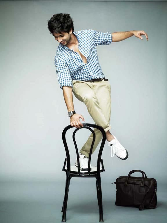 Shahid Kapoor's photoshoot for Men's Health Style Guide April 2012