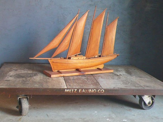 Vintage wooden model boat << Repinned by @Cindy Burks for Sale UK. Follow us on Twitter or find us on Facebook for news, updates and more!
