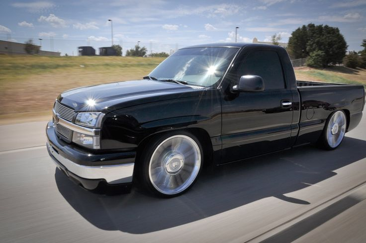 Lowered Chevrolet Silverado.