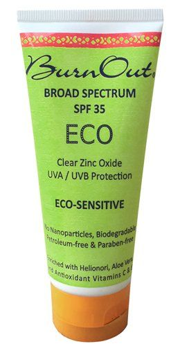 BurnOut Eco Sensitive Sunscreen, SPF 35. The best physical (non chemical) sunscreen I've used so far