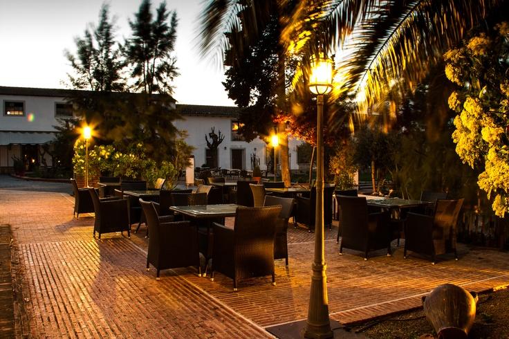 Hotel La Salve - Torrijos (Toledo) - Jardín al anochecer