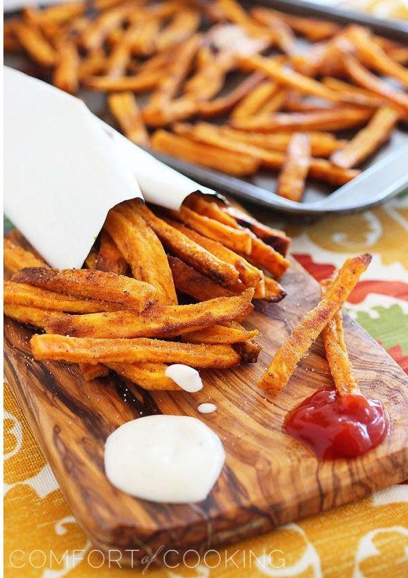 Crispy Baked Sweet Potato Fries | Deliciousness!! | Pinterest