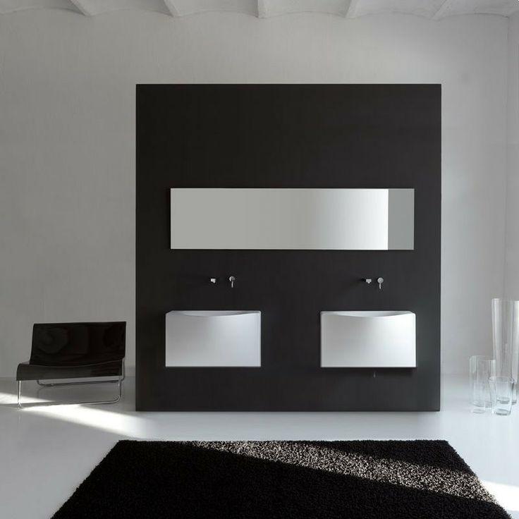 Art Ceram | wandhängendes Waschbecken Back | Livingtec | Ausführung ohne Hahnloch