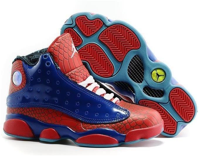Authentic Air Jordan 13 Xiii Retro Shoes Boutique Version Blue White