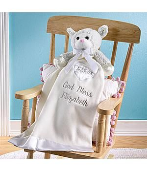 65 best christian baby gifts images on pinterest baby baptism this precious baptism lamb blanket is so sweet for baby negle Image collections