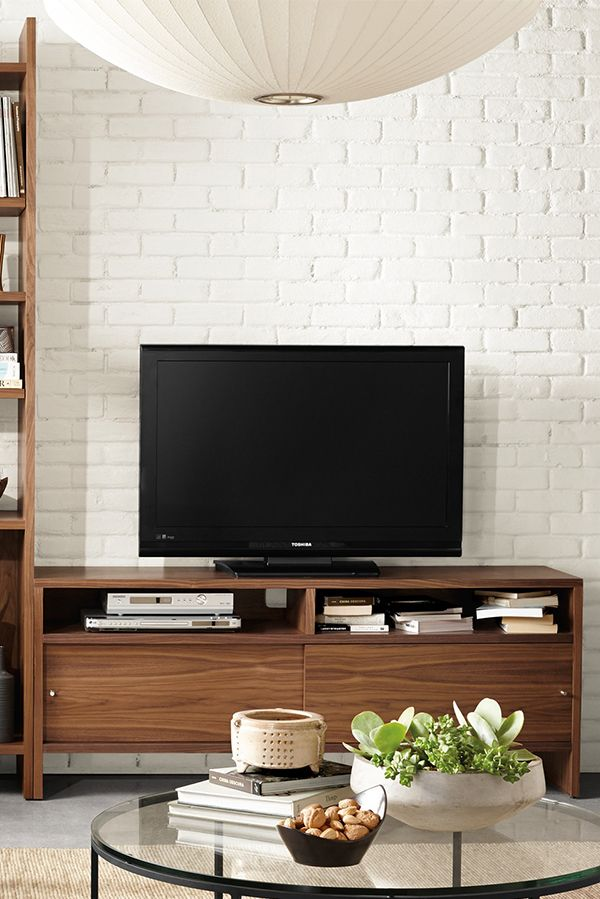 Enjoy the functionality and just-right size of our Addison media console.