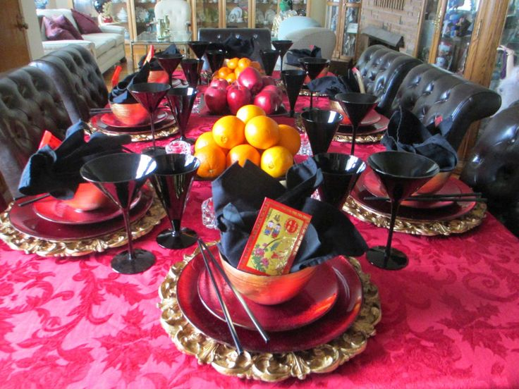 Chinese New Years 2015 tablescape