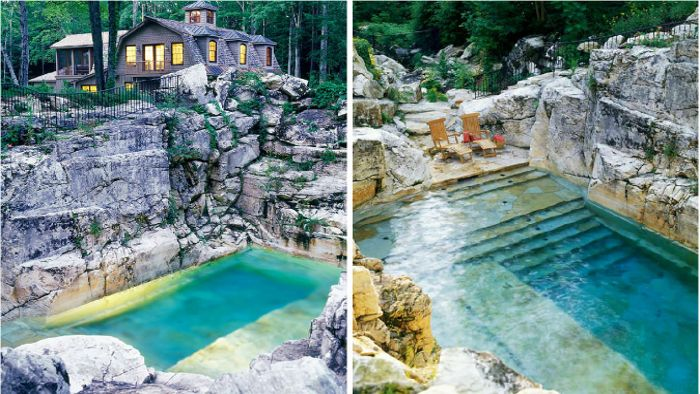 An Old Limestone Quarry Is Transformed From A Pile Of Rubble Into A Gorgeous Pool.