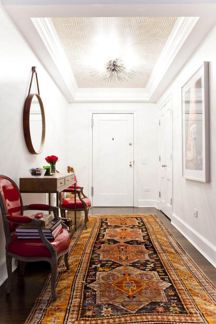 Inspiring Entryway With Oriental Orange Rug Via Socialstylate Desing Ideas