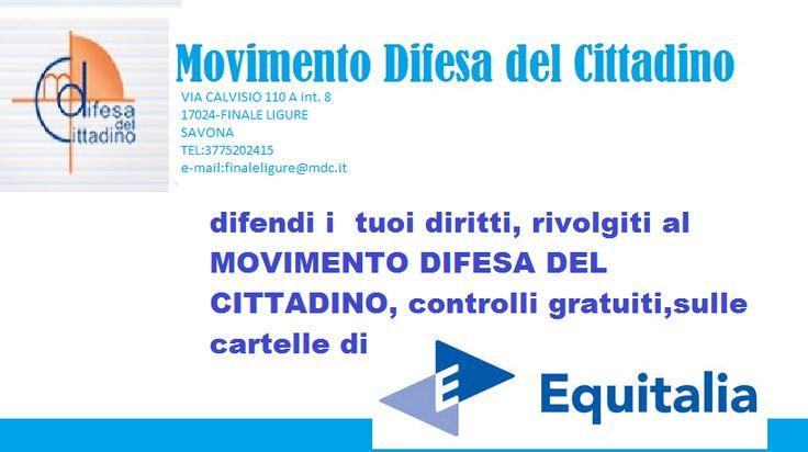 MOVIMENTO DI DIFESA DEL CITTADINO VIA CALVISIO 110A-FINALE LIGURE-tel:3775202415 avvocati convenzionati: professor MASSIMO CERNIGLIA E GIANTONIO CHIAVELLI
