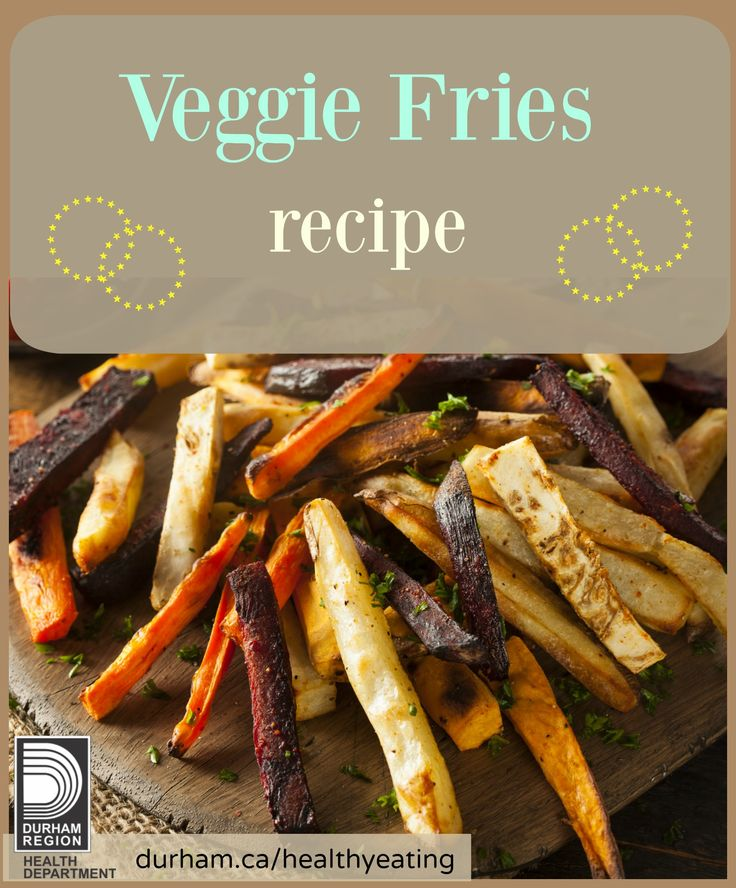 A great and healthy alternative for French fries are Veggie Fries. When making this recipe, you can include kids and grandparents to spend time in the kitchen together. This simple but tasty recipe can provide your family with more vegetables during a meal.